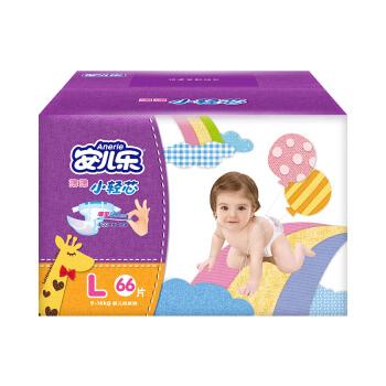 Anerle 安儿乐 薄薄小轻芯 婴儿纸尿裤 L 66片 *3件