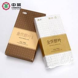 中茶 金花醇叶 3年陈 安化黑茶 760g