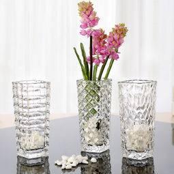 法兰晶 简约现代玻璃花瓶 3只装