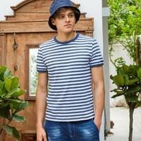 Maxwin 马威 男士条纹短袖T恤
