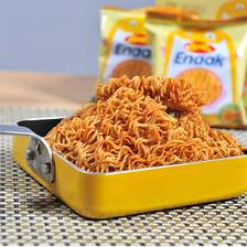 印尼进口!GEMEZ Enaak Extra小鸡风味干脆面 16g*15包