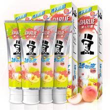 黑人(DARLIE)透心爽冰桃牙膏160g*4 清新口气防蛀固齿