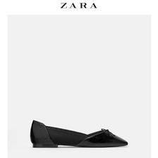 ZARATRF 女鞋 2019春款黑色蝴蝶结芭蕾平底鞋单鞋