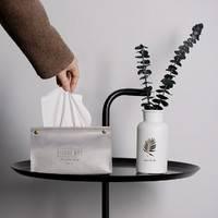 宽容 创意皮革纸巾盒  *2件