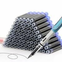 100支钢笔墨囊+1支钢笔
