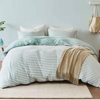 淘宝心选 尼特条纹全棉针织床上四件套 1.5m床