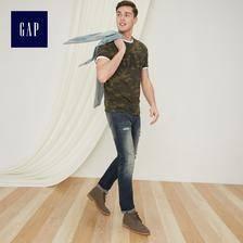 Gap男装迷彩短袖T恤夏季