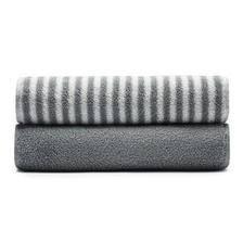 Plus会员 DAPU 大朴 32支新疆阿瓦提A类毛巾两条装浅灰色 34*76cm *3件