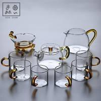 森典 SD-Fengp01 风畔 玻璃茶具套装 9头