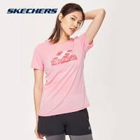 SKECHERS 斯凯奇 SDAWU18B131 女士运动T恤