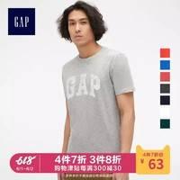 Gap男装纯棉短袖T恤夏季541069 E美式休闲logo上衣宽松薄款衣服男 *4件